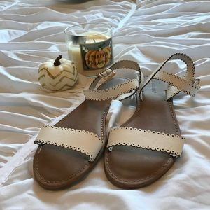 White NWOT strappy sandals